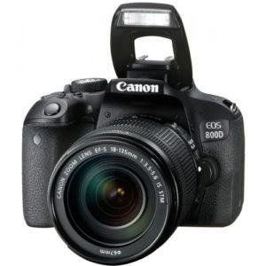 Лучший зеркальный фотоаппарат 2019 Canon EOS 800D Kit 18-135mm IS STM